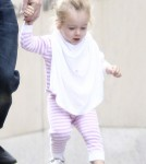 Sarah Jessica Parker and Matthew Broderick take their twins Marion and Tabitha to a playhouse at Columbia University.