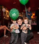 Charlie Sheen Spends His Birthday With His Twin Sons and Brooke Mueller