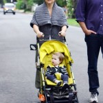 Tiffani Thiessen Takes A Stroll With Daughter Harper