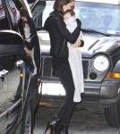 Victoria Beckham Wear Super High Heels While Walking With Harper Seven