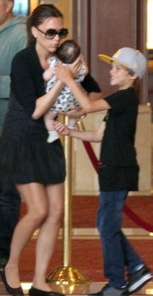 Victoria Beckham Takes Her Children Harper, Brooklyn, Romeo, and Cruz to The Gove