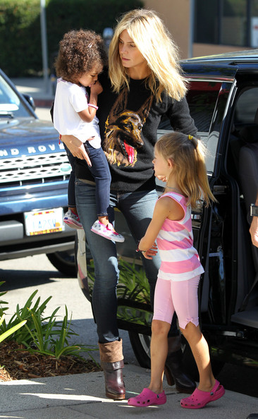 Heidi Klum Takes Her Kids To Karate