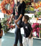 Heidi Klum takes her kids to karate in Brentwood, CA on October 1st, 2011.