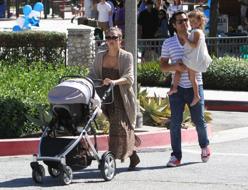 Jessica Alba and Family Go To A Playground