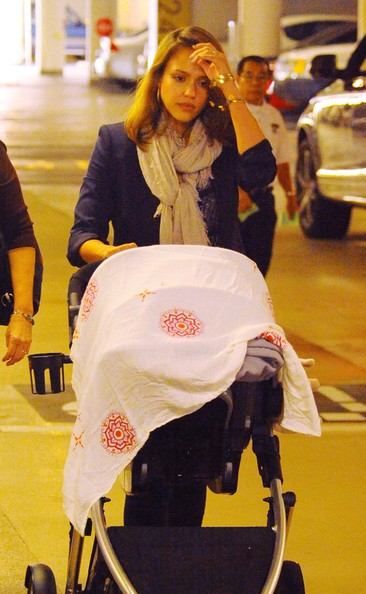 Jessica Alba Takes Baby Daughter Haven Garner Out