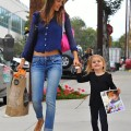 Alessandra Ambrosio Picking Up Her Daughter From School