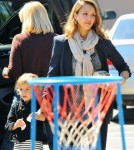 Jessica Alba Takes Haven Gardner Out