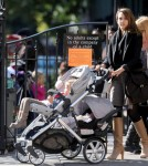Jessica Alba At A Playground in The West Village With Haven and Honor