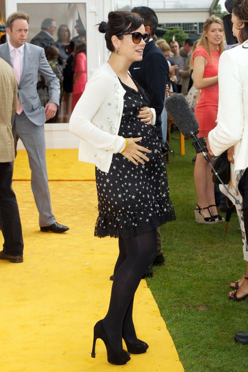 Lily Allen attends Veuve Clicquot Gold Cup polo on July, 17th, 2011 in London, England.