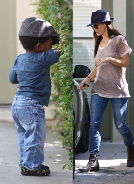 Sandra Bullock and Louis Love Hats