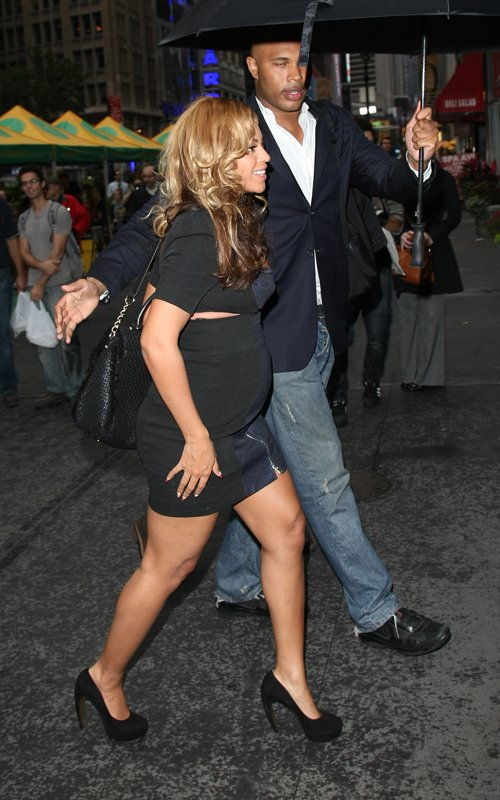 Beyonce Shows Off Her Bump in a Mini October 14th, 2011 in NYC