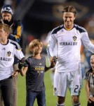 David Beckham and his boys say good-bye to LA Galaxy