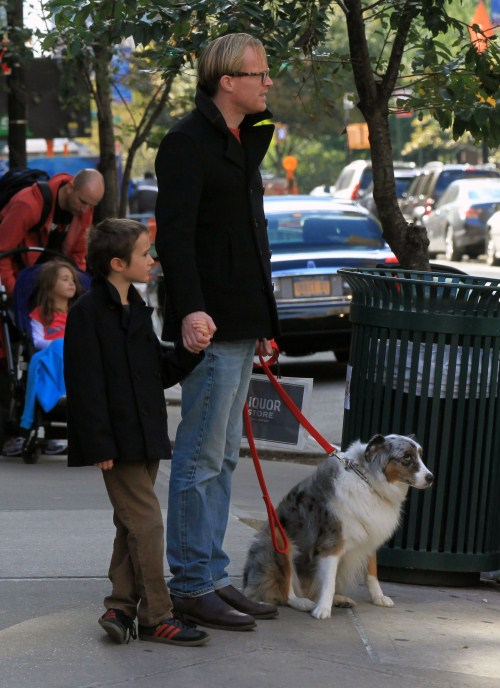 Paul Bettany Walks The Family Dog