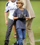 David Beckham and his boys say good-bye to LA Galaxy