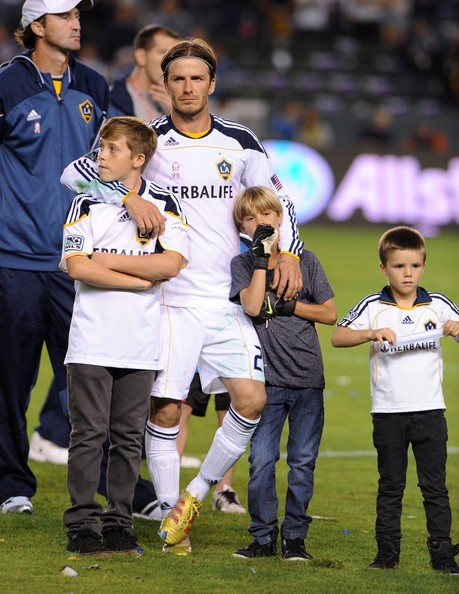 David Beckham and Sons Bid Farewell To LA Galaxy