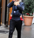 Orlando Bloom and son Flynn out in New York City (October 27)