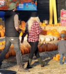 Christina Aguilera And Matt Rutler Take Her Son Max To Mr. Bones Pumpkin Patch