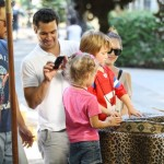 Jessica Alba and husband Cash Warren take their oldest daughter Honor Warren out to the country fair in Los Angeles, CA on October 1, 2011.