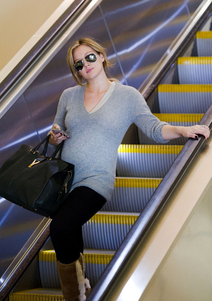 Hilary Duff Arrives at Lax With A New BUMP!