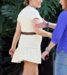 Pregnant Hilary Duff Visits Chelsea Lately