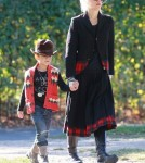 Gwen Stefani enjoys a day in the park playing on the swings with her two sons Kingston and Zuma