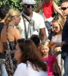 Heidi Klum and her Husband Seal enjoyed a day at Mr. Bones Pumpkin Patch in Los Angeles, California on October 15, 2011 with their children.