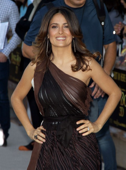 Puss In Boots Los Angeles Premiere, held at The Regency Village Theatre in Westwood, California on October 23rd, 2011. Salma Hayek