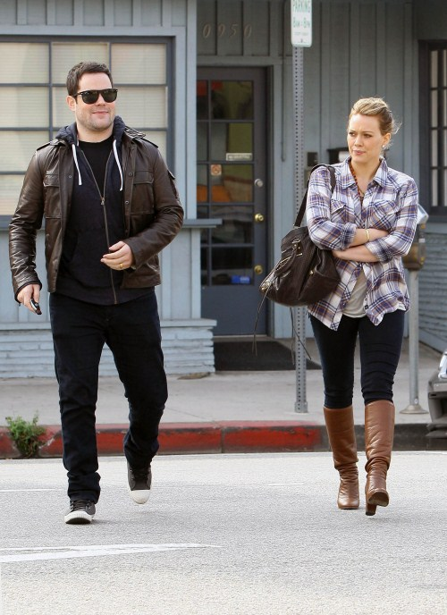 Hilary Duff and her husband Mike Comrie stopped by a vet hospital in Los Angeles, California on October 24, 2011. After dropping their dog off they headed to a local eatery for lunch together.