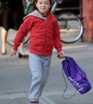 Hugh Jackman Drops Ava Off at School