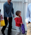 Hugh Jackman Drops Ava Off at School