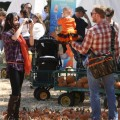 Ian Ziering spends the day with his family at the pumpkin patch in Los Angles, Ca on October 8, 2011