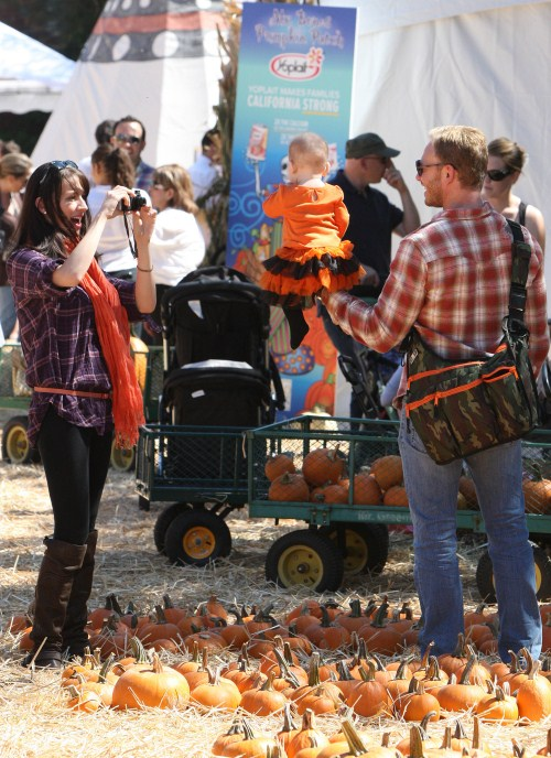 Ian Ziering and Family At The Pumpkin Patch