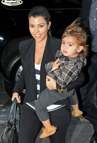 Kourtney Kardashian Carries Mason in NYC