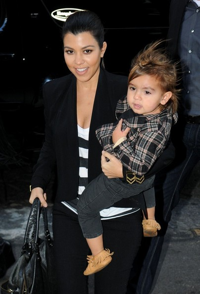 Kourtney Kardashian Carries Mason in NYC