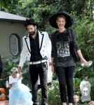 - Katherine Heigl wears a witch costume as she and her husband Josh Kelley dress their adorable daughter Naleigh in a princess costume for a Halloween party.