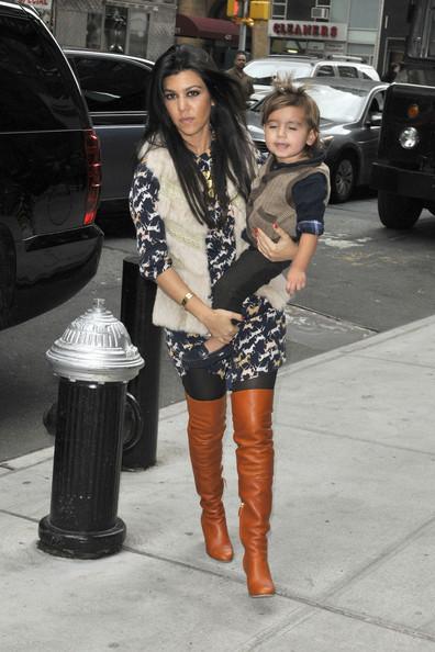 Kourtney Kardashian Carries Around Mason