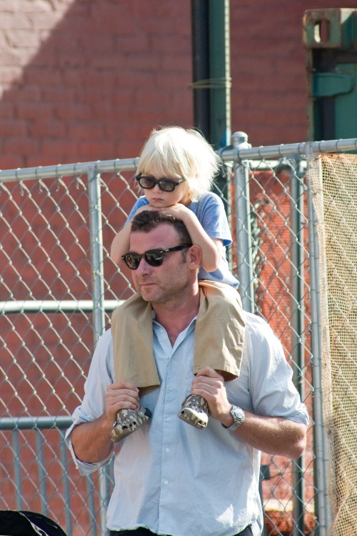 Liev Schreiber out and about in Manhattan with his wife ...