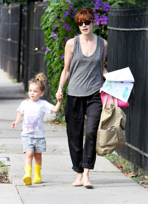 Michelle Monaghan Picks Daughter Willow Up From School