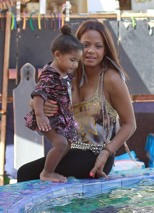 Christina Milian And Daughter Violet Enjoy The Miami Sun