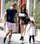 Michelle Monaghan and husband Peter White take their adorable daughter Willow out for a family day at the Brentwood Country Mart