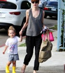 Michelle Monaghan picks her daughter Willow White up from school in Los Angeles, CA on October 3, 2011