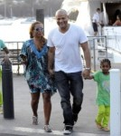 Mel B, Stephen Belafonte and her daughters Phoenix Chi Gulzar and Angel Iris Murphy-Brown visit Ronan Keating aboard a yacht and head out for an afternoon on Sydney Harbour.