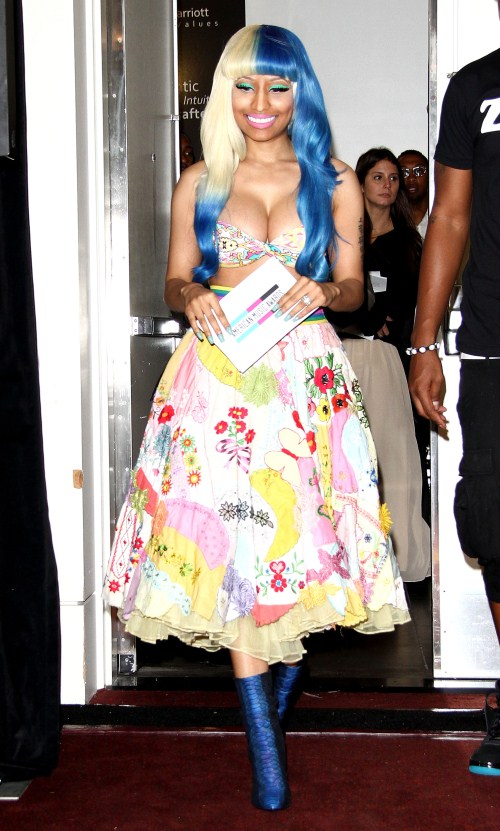 Nicki Minaj at the 2011 American Music Awards - Nominations Press Conference held at The JW Marriott Hotel at L.A. LIVE in Los Angeles, California on October 11th, 2011