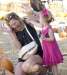 """True Blood"" star Natasha Alam took her adorable daughter Valentina Campana to Mr. Bones Pumpkin Patch in Beverly Hills, California on October 22, 2011."