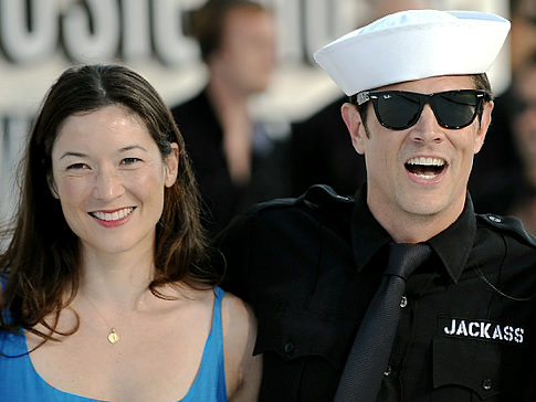Johnny Knoxville with wife Naomi Nelson