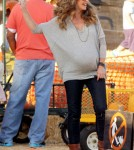 Rebecca Gayheart and husband Eric Dane take their adorable daughter Billie to Mr. Bones Pumpkin Patch