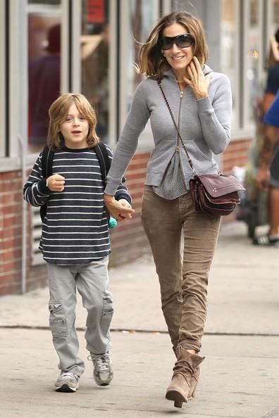 Sarah Jessica Parker Taking James To School