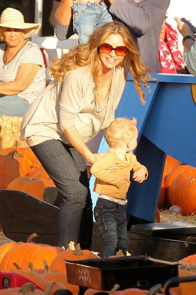 Rebecca Gayheart and husband Eric Dane take their adorable daughter Billie to Mr. Bones Pumpkin Patch