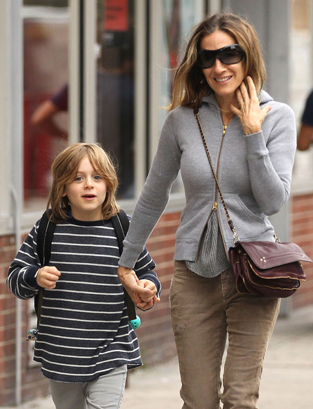 Sarah Jessica Parker Takes James To School
