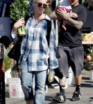 Sunday October 30, 2011. Pink and her husband Carey Hart take their baby daughter Willow Sage to the farmers market